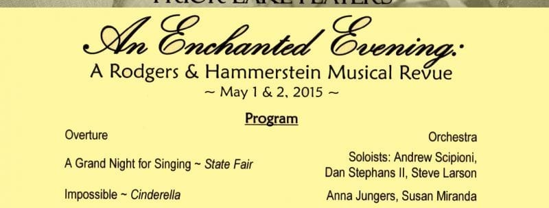 An Enchanted Evening: A Rodgers & Hammerstein Musical Revue